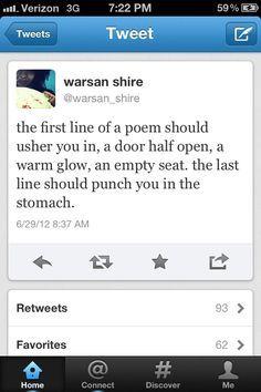 Warsan Shire. Every damn time.