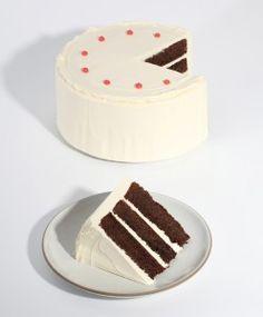 Caitlin Freeman's Edible Interpretation of Wayne Thiebaud's Chocolate Cake lithograph  via A Fine Day For...