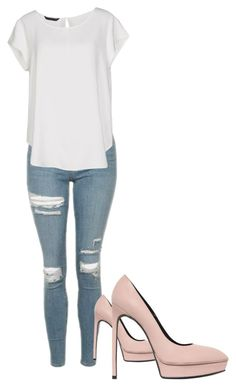 """""""Untitled #61"""" by lulusuch on Polyvore featuring Topshop, ONLY and Yves Saint Laurent"""