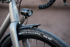 """VPACE T1ST Gravel-MasterGermany has specific rules regarding bicycle lighting, and the Gravel-Master is fitted with Supernova's E3 Triple 2 light — """"For Racing Only"""" — which is not actually road-legal in Germany. The model is targeted at the 24-hour marathon racing market… three CREE LEDs make it one of the brightest dynamo lights in the world."""