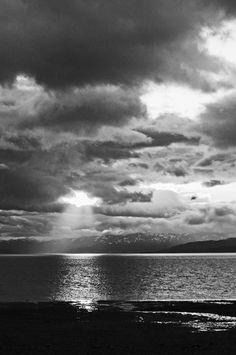 Alaska Moon  Black and White