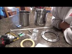 1/3 $25 Diy How To Stainless Steel Wood Pellet Gasifier Stove Cheap Easy Portable Just Put Together. - YouTube
