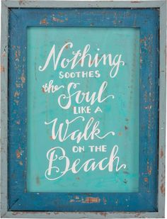 """Nothing soothes the soul like a walk on the beach"" A perfect addition for your beach house! Made of wood Measures 12' x 16' IN STOCK"