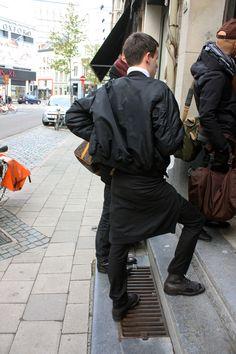 Wearing Raf Simons in Antwerp