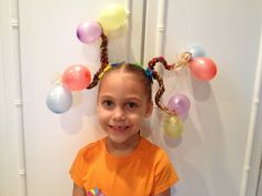 Crazy Hair Day At School, Crazy Hair Days, Crazy Hats, Crazy Socks, Little Girl Hairstyles, Cool Hairstyles, Crazy Hair For Kids, Wacky Hair Days, Diy Crafts For Kids