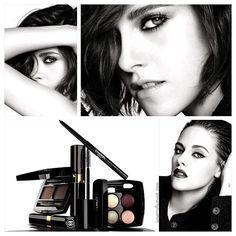 предстоящая коллекция Chanel Eyes, которая становится дебютной для Кристен Стюарт в качестве модели для макияжа. На фото лишь малая часть коллекции, в которой будут представлены новые палетки, тени-карандаши Stylo Eyeshadow, палетка для бровей и новая тушь #chanelbeauty #chanelmakeup #chaneleyes