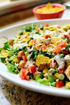 Chicken Taco Salad || The Pioneer Woman  Connect with a busy Mom! http://www.abundance-and-prosperity.com