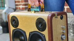 Handsome upcycled boomboxes made from suitcases