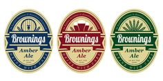 Brownings Brewery product labels by gjeric