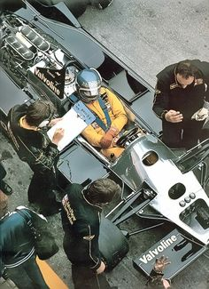 Ronnie Peterson Sitting in the Lotus 79