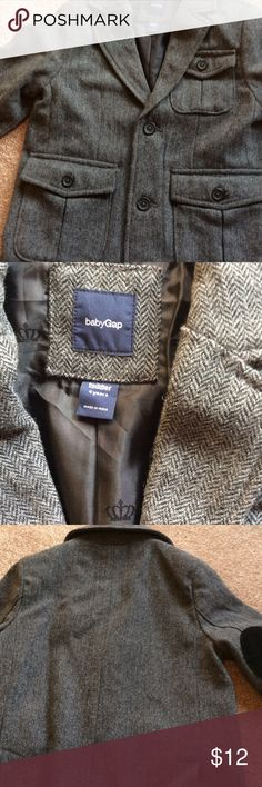 Baby Gap Tweed Jacket Baby Gap tweed boys jacket.  In great condition.  Fully lined.  Size 4 years.  Jacket is 16 1/2 inches long. baby gap Jackets & Coats Blazers