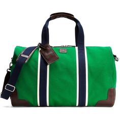Brooks Brothers Prep Duffle ($348) ❤ liked on Polyvore