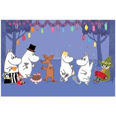 Moomin Postcard: The Party