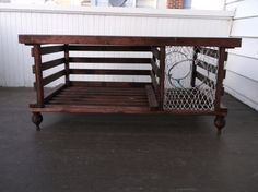 Repurposed Lobster Trap Into Coffee Table Recycled Ideas