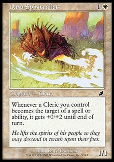 Daru Spiritualist - Creature - Cleric - Sun - White - Scourge - Magic The Gathering Trading Card