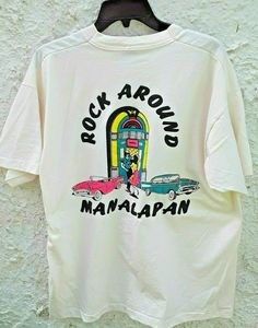 Vintage Rock Around Manalapan Shirt Jukebox 1957 Chevy Mens XL New Jersey 1995 by Fchoicevintage on Etsy 90s Shirts, College Shirts, Blank T Shirts, Tour T Shirts, Vintage Rock, Vintage Men, Katie Roberts, Vintage Shirts, Vintage Clothing