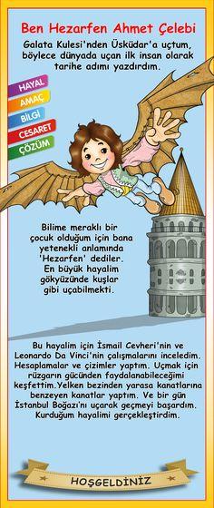Hezarfen Ahmet Çelebi Kids And Parenting, Kids Cards, Science Experiments, Classroom Decor, Kids Education, Montessori, Homeschool, Knowledge, Psychology