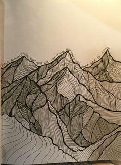 Geology Coloring Book-- Flatirons, Boulder, Colorado   Art+Design+ ...