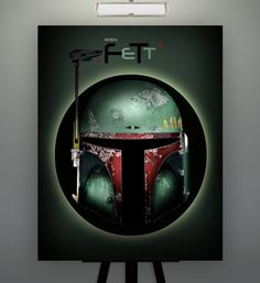 Star Wars Inspired Boba Fett Herofied Helm 11X14 by Herofied