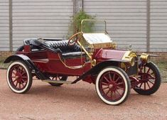 "1912 Empire Runabout -  Empire Motor Car Company made cars in Indianapolis from 1906-1919. There is also an Empire automobile that was made by Greenville Metal Products from 1912-1919 in Greenville, PA. This car is from the former company and is known as ""The Little Aristocrat"" with its 4 cylinder, 20hp engine & ""mother-in-law"" seat at the rear. The founders of this automobile marque also founded the Indianapolis 500-Mile Race and built the Indianapolis Motor Speedway in 1910!"