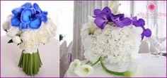 Kék menyasszonyi csokor - mit válasszon, és hogyan lehet a saját kezét, fotók