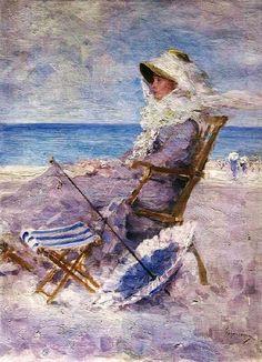 Nicolae Grigorescu, Am Meer 1880 Claude Monet, Art Plage, Monet Paintings, Art Nouveau, Lavender Blue, Pierre Auguste Renoir, Manet, Am Meer, Art Themes