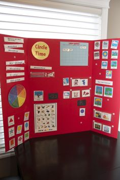 DIY Circle Time Board for Preschoolers with links to printables