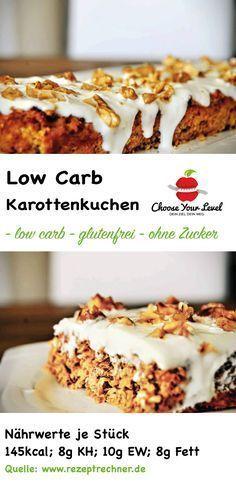 Low Carb Kuchen Apfel-Karotte mit Quarktopping - glutenfrei - wenig Kohlenhydrate - wenig Zucker - super lecker hervorragend als Frühstück oder auch als gesunde Zwischenmahlzeit geeignet Zutaten: Für den Teig: 2 Karotten 1/2 Apfel 75g Mandelmehl 50g Quark (40% Fett) 2 Eier 1 TL Zimt Für das Quark-Topping 50g Quark (40%) 50g Joghurt 1 EL Xucker (oder einen Süßstoff eurer Wahl) gehackte Walnüsse oder Mandeln als Topping