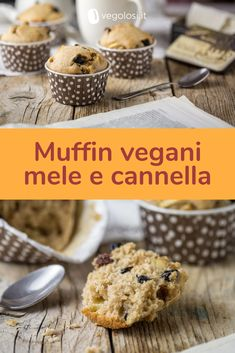 41 New Ideas Healthy Recipes Vegetarian Vegan Dairy Free Raw Vegan Desserts, Vegan Treats, Sweet Desserts, Healthy Meals For One, Super Healthy Recipes, Sweet Recipes, Vegan Muffins, Healthy Muffins, Tortillas Veganas