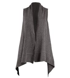 Alice and Olivia Heather Grey Ribbed Vest