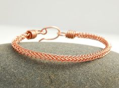 Handmade Braided Copper Bracelet by MiscellaneaEtcetera