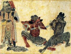 Mehmet Siyah Kalem (Siyah Qalem, Siyah Qalam), Mehmet Matita Nera, un grande maestro misconosciuto. Art And Illustration, Medieval, Occult Art, Iranian Art, Demonology, Art File, Ancient Civilizations, Illuminated Manuscript, Islamic Art