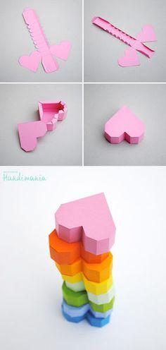 色画用紙でDIY!バレンタインで使えるカラフルでかわいいハートボックス♡