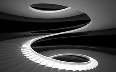 TRANSITION WHY- The stairs curve in an interesting way that leads the viewers eyes from the top to the bottom. DEF- A design that has a curve leading the eye somewhere.: