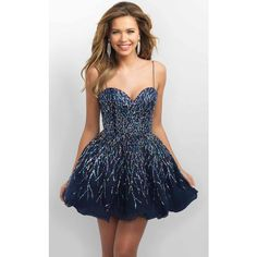 Blush 11182 Bat Mitzvah Dress Mini V-Neck Sleeveless ($280) ❤ liked on Polyvore featuring dresses, formal dresses, v neck prom dress, short sequin dress, sequin prom dresses, blue homecoming dresses and sequin dresses