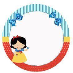 Minus - Say Hello! Free Printable Invitations, Printable Stickers, Printables, Baby Snow White, Snow White Birthday, White Baby Showers, Happy Eid, Disney Theme, Disney Scrapbook