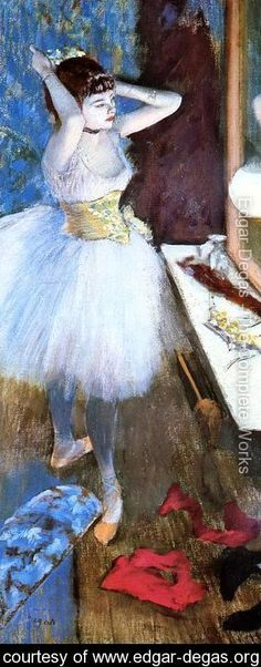 Dancer in Her Dressing Room I - Edgar Degas - www.edgar-degas.org