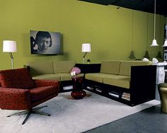 green wall painting ideas