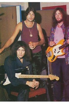 Ritchie Blackmore, Ian Gillan and Roger Glover of Deep Purple