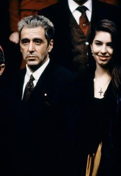 """Al Pacino & Sofia Coppola in """"The Godfather III"""" - Rostros / Faces"""