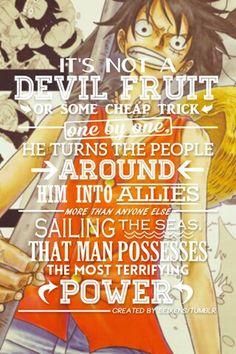 Terrifying power/Luffy/One piece