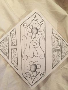 Amandas Monogram  6th grade art