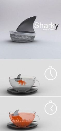 "From ""10 Brilliantly Designed Items You Wish You Owned"" *Jaws Theme plays* Your tea is done!"