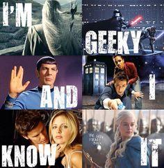 Proud geek that I am!
