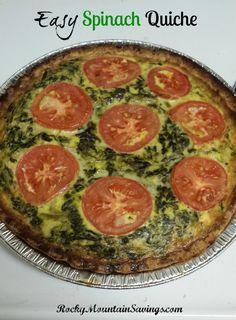 Easy Spinach Quiche http://www.rockymountainsavings.com #recipes