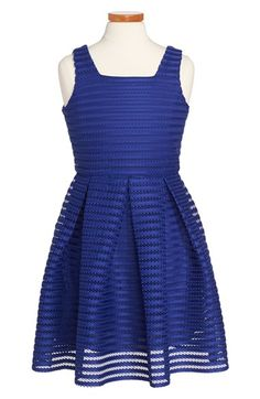 Soprano Laser Cut Scuba Skater Dress (Big Girls) | Nordstrom