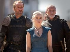 """This character we thought was a goner on """"Game of Thrones"""" was just caught reading a script. Iain Glen -- Jorah Mormont"""