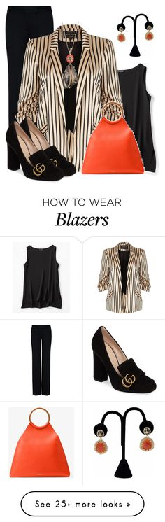 """Office Outfit"" by lchar on Polyvore featuring Eileen Fisher, STELLA McCARTNEY, River Island, Alexis Bittar, Gucci and Michael Kors"