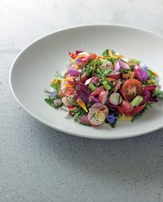 Shiraz salad recipe from New Middle Eastern Food by Greg Malouf Greg Malouf, Online Cookbook, Spring Salad, Light Recipes, Food Presentation, Food Plating, Food Styling, Salad Recipes, Food To Make