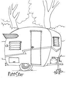 Pop Up Camper Trailer Coloring Pages Addison Pinterest